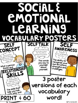 When Social And Emotional Learning Is >> Social And Emotional Learning Vocabulary Set