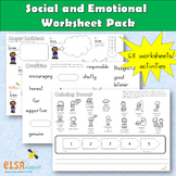 Social and Emotional Worksheet pack