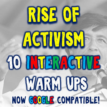 Social and Environmental Activism 10 Bellringers Warm Ups - DBQ