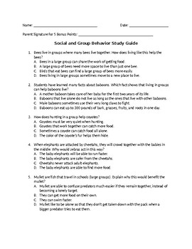 Social and Group Behavior Study Guide