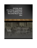 Social and Political Changes in West Virginia During Recon
