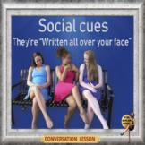 Social cues - ESL adult conversation power-point lesson