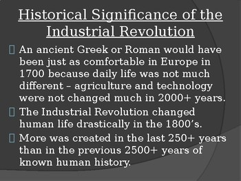 Social, economic and environmental results of the Industrial Revolution