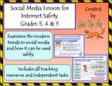Social media lesson for internet safety and E-Safety (Grades 3-5)
