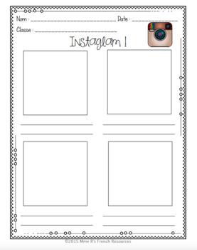 French social media pages/ une activité de média social