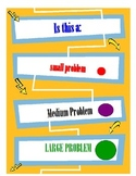 Social skill: Small, Medium or Large Problem Visual Aid