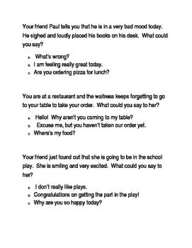 Social skills perspective taking worksheet
