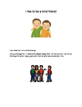 Social skills resource-Being a kind friend
