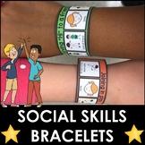 Social skills bracelets | visual cues | behavior picture reminders
