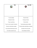 Social stories for behavior