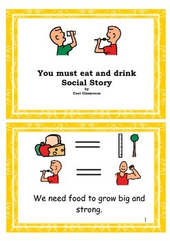 Social story - Eating and drinking little book