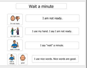 Autism Visual Support and more- Social story: Wait a minute, I'm not ready