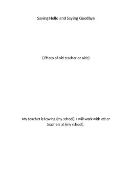 Social story - change of teacher/aide mid year