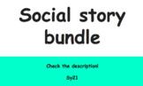 """4 Social stories """"finished"""" bundle"""