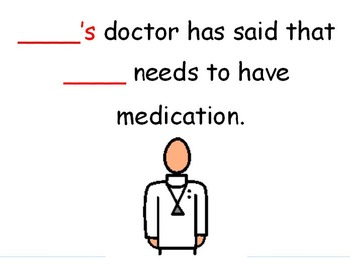 Social story for children who have medication