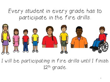 Social story for fire drills at school