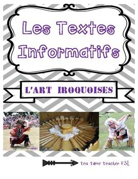 Social studies - L'arts Iroquoises (informational textes & lengends)