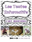 Social studies - L'arts Iroquoises (informational textes &