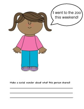 Wondering Questions Activities (Social Skills)