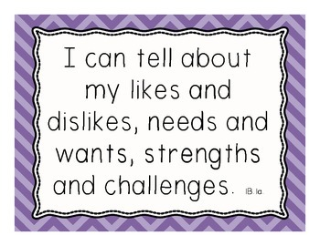Social/Emotional I Can Statements - Early Elementary