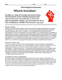 Socialism Vs. Capitalism Reading and Activity -History/Soc