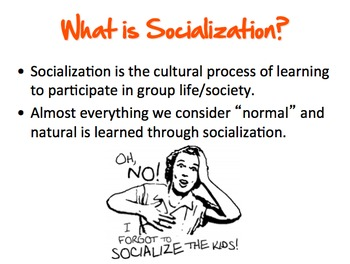 "Socialization: Roles, 3 Perspectives, and ""How to Be Me"" P"