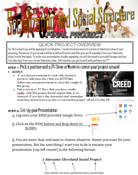 Socialization and Social Structure TV Show/Movie Project