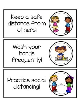 Social Distancing Classroom Rules (Covid Inspired) by Diana T Sylvander