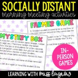 Socially Distant Morning Meeting Games for In-Person Class