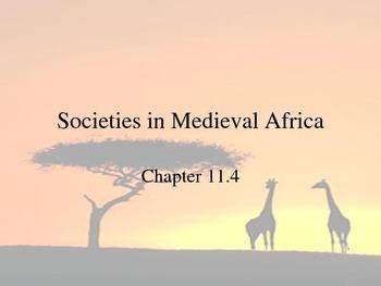 Societies in Medieval Africa