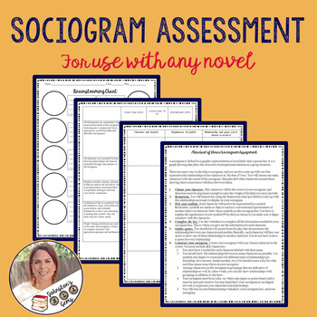 Sociogram Assessment- for use with any novel or play/Secondary English