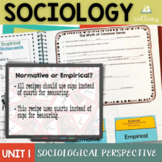 Sociological Perspectives Interactive Notebook Complete Un