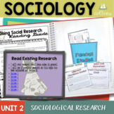 Sociological Research Interactive Notebook Complete Unit