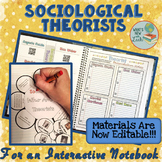 Sociological Theorists for an Interactive Notebook