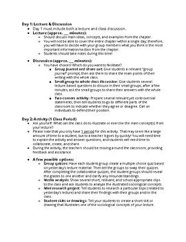 Sociology Activity Handout: Collaborative Teaching (2-Day Lesson)