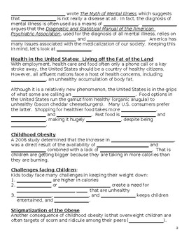 Sociology-Aging & Health Guided Notes