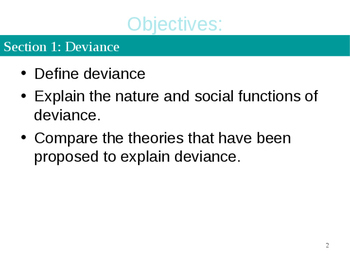 Sociology Chapter 7 Deviance and Social Control