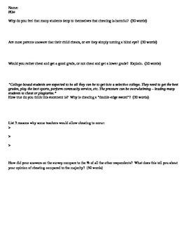 Sociology - Cheating case study