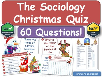 Sociology Christmas Quiz!