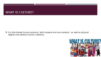 Sociology Components of Culture PowerPoint