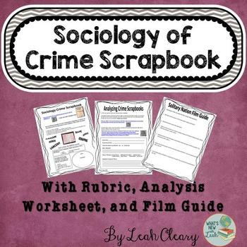 Sociology Crime Scrapbook Deviance Activity
