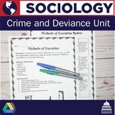 Sociology | Crime and Deviance Unit