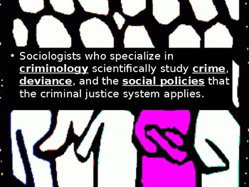 Sociology-Crime and the Legal System PowerPoint