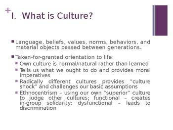 Sociology - Culture