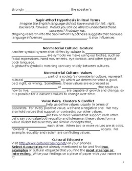 Sociology- Culture Guided Notes