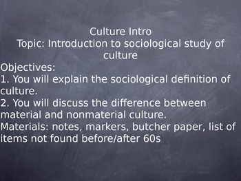 Sociology Culture Unit