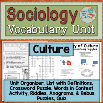 Sociology Culture Vocabulary Unit