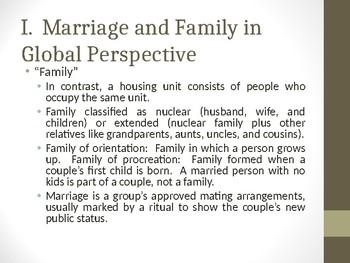Sociology - Family