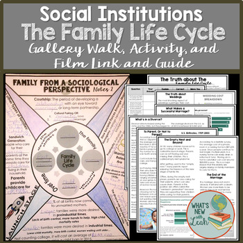 Sociology Family Life Cycle Gallery Walk, Activity, and Film Guide