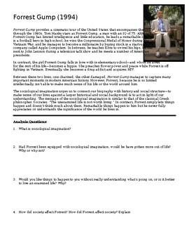 Sociology - Forrest Gump Movie Analysis